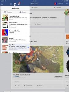 Buka dan login facebook anda kemudian cari orang yang ingin dihubungi