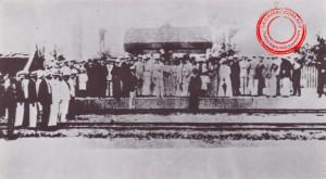Gambar ihsan: Raja AbdulRahman Raja Basok | Perasmian Keretapi di Bandar Segamat pada tahun 1909