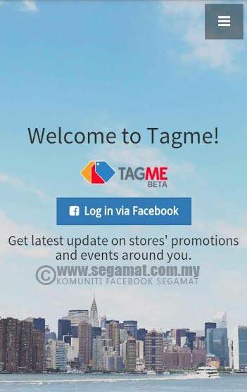Log masuk mudah dengan mendaftar menggunakan akaun Facebook
